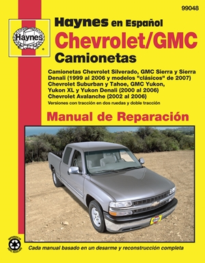 Chevrolet and GMC Camionetas Manual de Reparaci=n