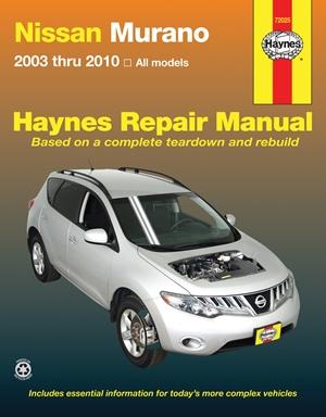 Nissan Murano 2003 thru 2010