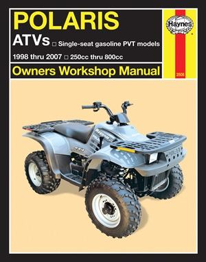 Polaris ATVs  1998 thru 2007 250cc thru 800cc