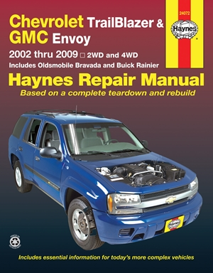 Chevrolet TrailBlazer, TrailBlazer EXT, GMC Envoy, GMC Envoy XL, Olsmobile Bravada & Buick Ranier with 4.2L, 5.3L V8 or 6.0l V8 engines (02-09) Haynes Repair Manual