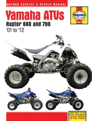 Yamaha ATVs Raptor 660 and 700