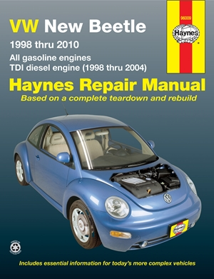 VW New Beetle 1998 thru 2010 Haynes Repair Manual
