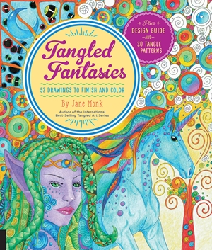 Tangled Fantasies 52 Drawings to Finish and Color