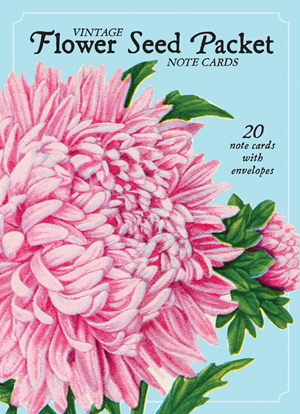 Vintage Flower Seed Packet Note Cards
