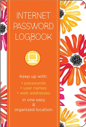 Internet Password Logbook - Botanical Edition
