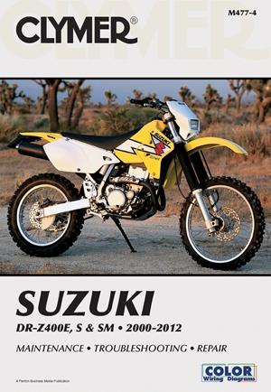 Suzuki DR-Z400E, S & SM Manual 2000-2012