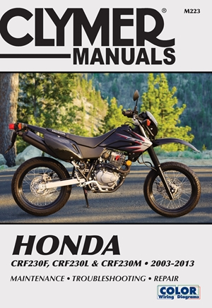 Honda CRF230F, CRF230L & CRF230M 2003-2013