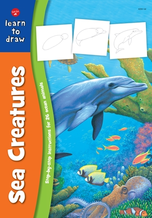 Sea Creatures Step-by-step instructions for 25 ocean animals