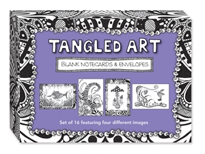 Tangled Art Blank Note Cards & Envelopes