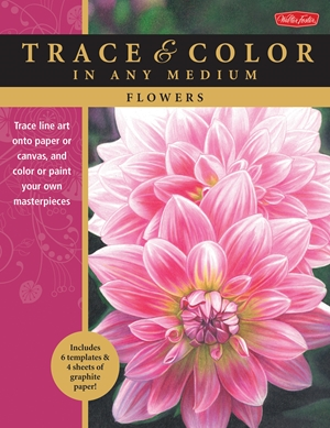 Flowers Trace line art onto paper or canvas, and color or paint your own masterpieces