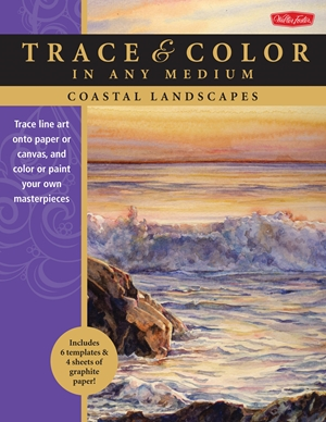 Coastal Landscapes Trace line art onto paper or canvas, and color or paint your own masterpieces
