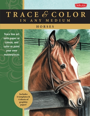 Horses Trace line art onto paper or canvas, and color or paint your own masterpieces