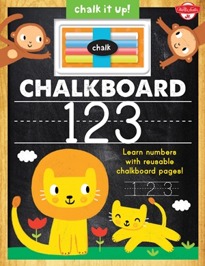 Chalkboard 123 Learn your numbers with reusable chalkboard pages!