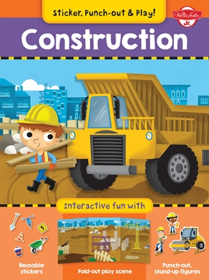 Construction Interactive fun with fold-out play scene, reusable stickers, and punch-out, stand-up figures!