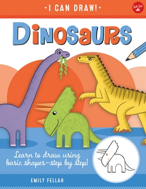 Dinosaurs Learn to draw using basic shapes--step by step!