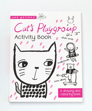 Cat's Playgroup A drawing and coloring book