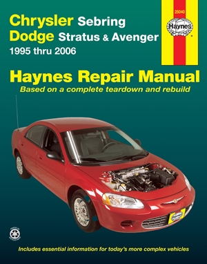 Chrysler Sebring, Dodge Stratus & Avenger 1995 thru 2006