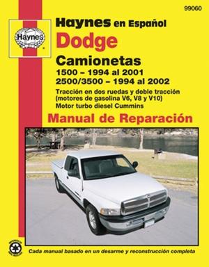 Dodge Camionetas  1500 (1994 al 2001) y 2500/3500 (1994 al 2002)