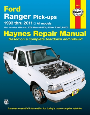 Ford Ranger (93-11) & Mazda B2300/B2500/B3000/B4000 (94-09) Haynes Repair Manual
