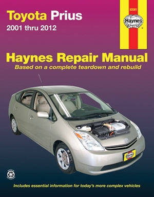 Toyota Prius 2001 thru 2012 Haynes Repair Manual