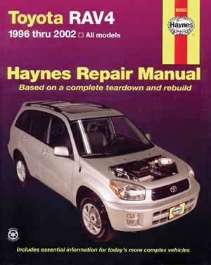 Toyota RAV4 1996 thru 2012 Haynes Repair Manual