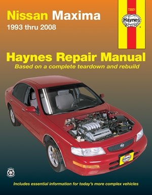Nissan Maxima 1993 thru 2008 Haynes Repair Manual