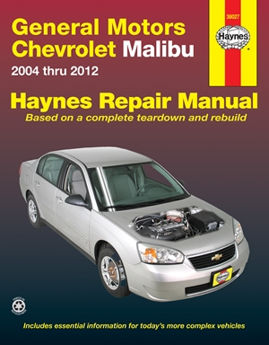 General Motors Chevrolet Malibu 2004 Thru 2012