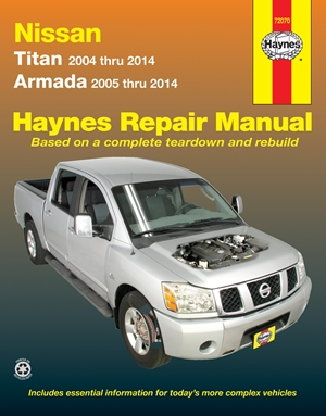 Nissan Titan 2004 thru 2014 & Armada 2005 thru 2014 Haynes Repair Manual