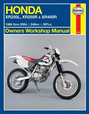 Honda XR250L, XR250R & XR400R 1986 thru 2004