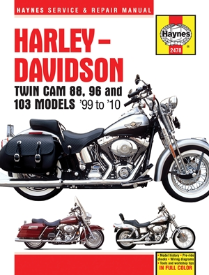 Harley Davidson Twin Cam 88, 96 And 103 Models U002799 To U002710