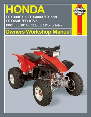 Honda TRX300EX & TRX400X/EX and TRX450R/ER ATVs 1993 thru 2014