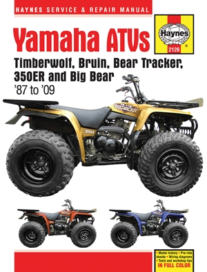 Yamaha ATVs Timberwolf, Bruin, Bear Tracker, 350ER and Big Bear 1987 - 2009