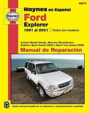 Haynes en Espanol Ford Explorer 1991 al 2001, Todos los modelos