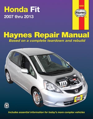 Honda Fit 2007 thru 2013 Haynes Repair Manual
