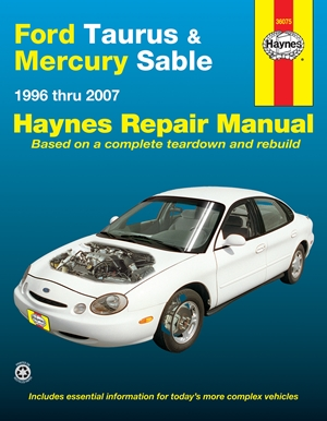 Ford Taurus & Mercury Sable 1996 thru 2007 Haynes Repair Manual