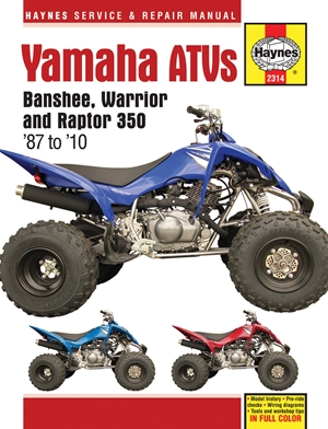 Yamaha ATVs Banshee, Warrior and Raptor 350 '87 to '10