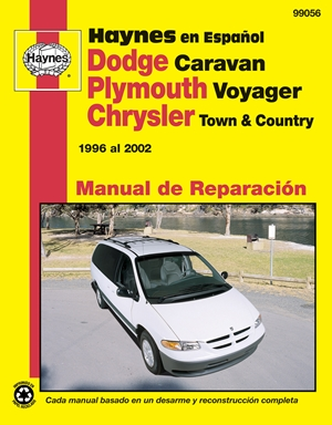 Plymouth Voyager y Chrysler Town & Country Haynes Manual de Reparacion por 1996 al 2002