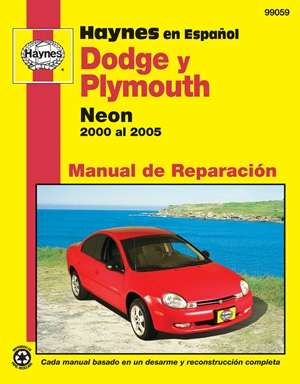 Modelos Dodge y Plymouth Neon Haynes Manual de Reparacion por 2000 al 2005