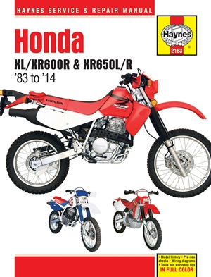 Honda XL/XR600R & XR650L/R, 1983 to 2014