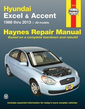 Hundai Excel & Accent 1986 thru 2013