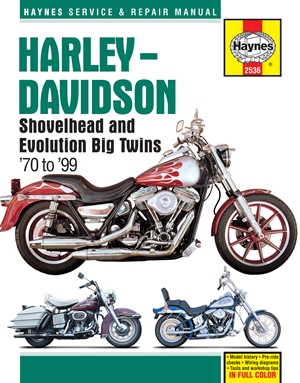 Harley-Davidson Shovelhead and Evolution Big Twins '70 to '99