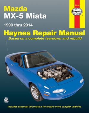 Mazda MX-5 Miata 1990 thru 2014 Haynes Repair Manual