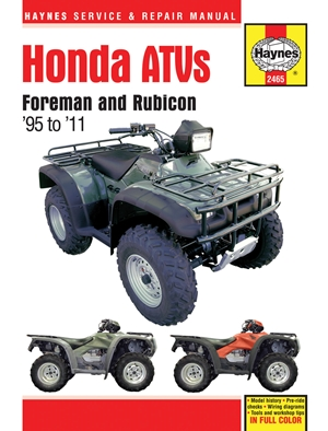 Honda ATVs Foreman and Rubicon '95 to '11