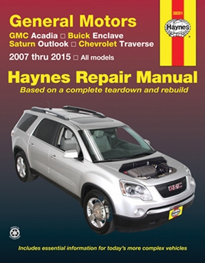 GMC Acadia, Buick Enclave, Saturn Outlook, Chevrolet Traverse