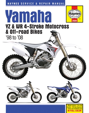 Yamaha YZ & WR 4-Stroke Motocross & Off-road Bikes, '98 to'08