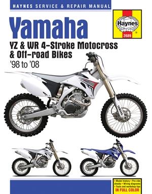 Yamaha YZ & WR 4-Stroke Motocross & Off-road Bikes, '98 to'08