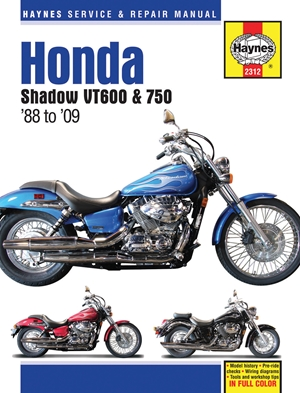 Honda Shadow VT600 & 750 '88 to '14