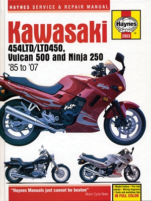 Kawasaki 454LTD/LTD450, Vulcan 500 Ninja 250 '85 to '07