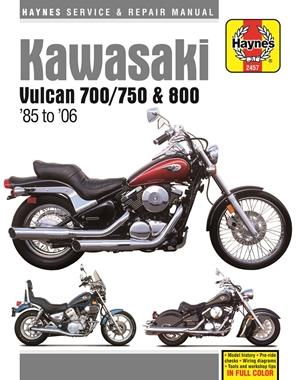 Kawasaki Vulcan 700 (1985), Vulcan 750 (85-06), Vulcan 800 (95-05), Vulcan 800 Classic (96-02) & Vulcan 600 Drifter (99-06)