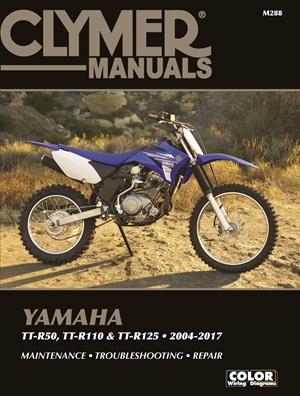 Yamaha TT-R50, TT-R110 & TT-R125, 2004-2017 Clymer Manual